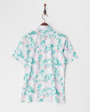 PK メンズ 花柄半袖ポロシャツUVカット・吸汗速乾見る
