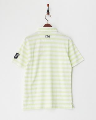 GN  メンズ 綿混ボーダー半袖ポロシャツ UVカット・吸汗速乾見る