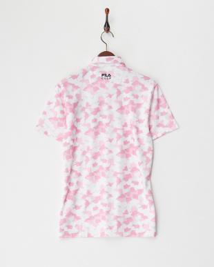 PK  メンズ 総柄半袖ポロシャツ UVカット・吸汗速乾見る