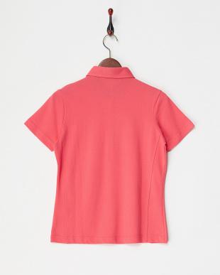 PK  レディス 衿裏ドット ハーフジップ半袖シャツ UVカット・吸汗速乾見る