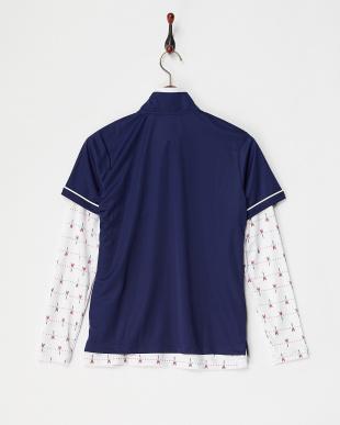 NV  レディス 半袖シャツ+エッフェル塔柄インナー UVカット・吸汗速乾見る