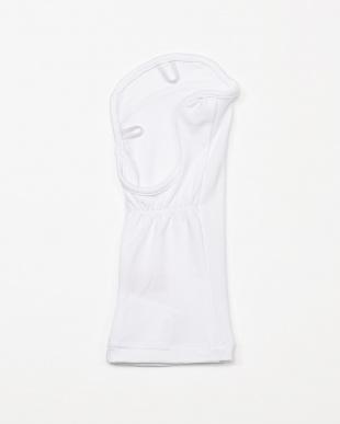 ホワイト  レディス UVカット ハンドカバー(右手用)吸汗速乾見る