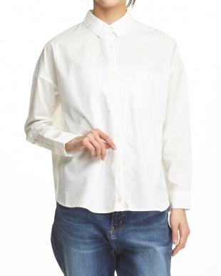 オフホワイト  タイプライターカシュクールシャツ見る