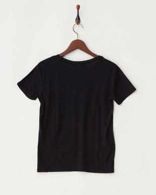 black  ウォッシャブル シルクコットンTシャツ見る