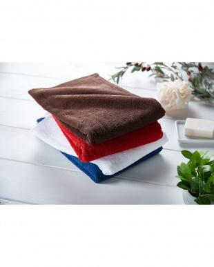 レッド  世界3大コットン「ギザ綿」使用 バスタオル 3枚セット見る