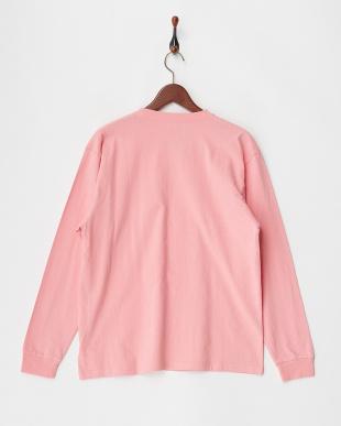 ピンク  FRUIT OF THE LOOM カラーロングスリーブTシャツ見る