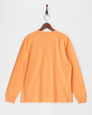 オレンジ  FRUIT OF THE LOOM カラーロングスリーブTシャツ見る