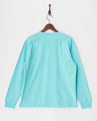 ライトブルー  FRUIT OF THE LOOM カラーロングスリーブTシャツ見る