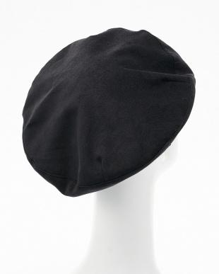 ブラック  コーデュロイベレー帽見る