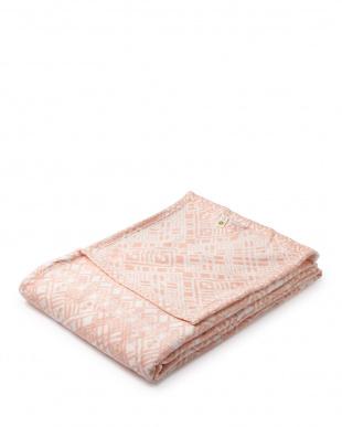 ピンク  ソフトタッチオーバーサイズブランケット 160×230cm見る