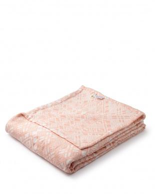 ピンク  ソフトタッチオーバーサイズブランケット 180×230cm見る