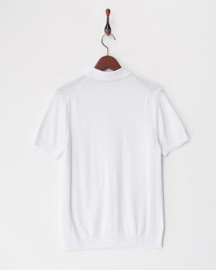 ホワイト 1/33コットンブークレーポロシャツ見る