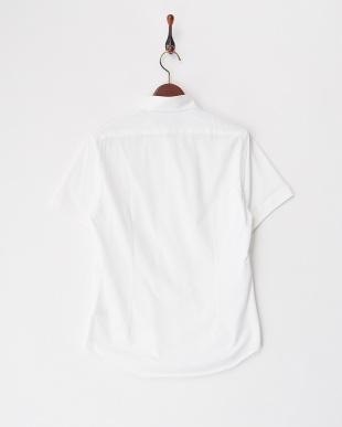 ホワイト  50/-コンパクトクールマックスハニカムシャツ見る