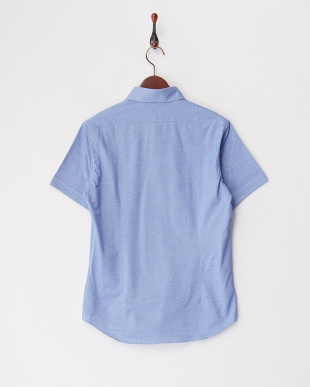 サックス  50/-コンパクトクールマックスハニカムシャツ見る