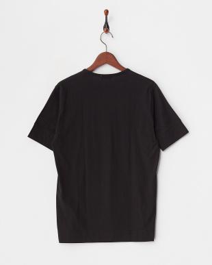ブラック 36/-スーパースビン天竺 VネックTシャツ見る