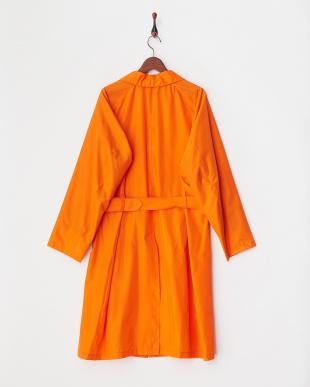 オレンジ  シルク撥水コーティングコート見る
