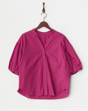 D/ピンク  ボリュームスリーブスキッパーシャツ見る