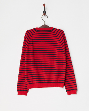 ROUGE ROUGE PETE LS 肩ボタン付きボーダーニット見る