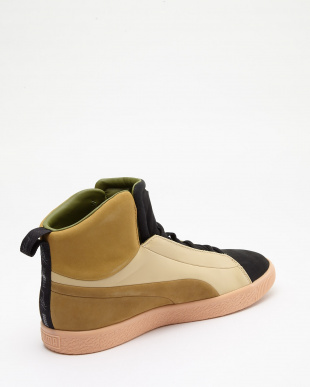 PUMA BLACK-NATURAL VACHETTA- PUMA BLACK-NATURAL VACHETTA CLYDE FSHN GLOW MID NATUREL見る