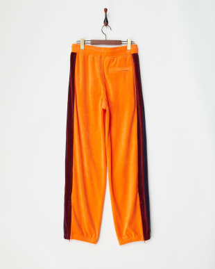 FLAME-EVENING BLUE VELOUR TRACK PANT|WOMEN見る