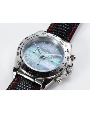 ブラック  腕時計・クロノグラフ/カラーレザーベルト|UNISEX見る
