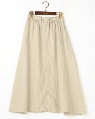 キナリ  リネンギャザーフレアスカート|WOMEN見る