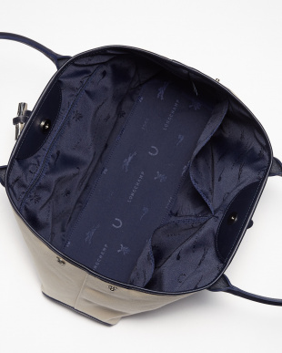 Navy×Red Roseau Longchamp 1948 2WAYトートバッグ見る