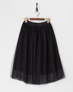 ブラック  チュールスカート見る