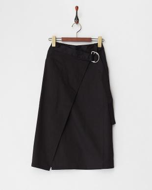 ブラック  Dカン付きラップスカート見る