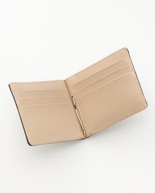 ブラック  クロコダイルマネークリップ式2つ折り財布見る