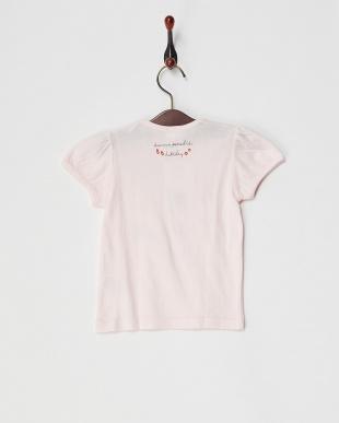 ピンク  天竺サマーアイテムプリントTシャツ見る