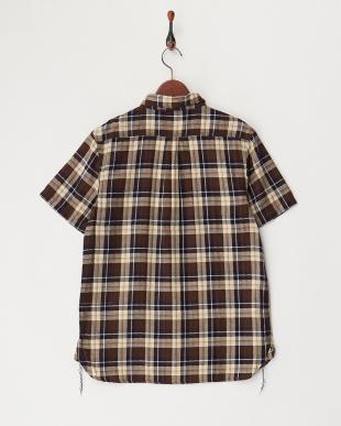 NAVY チェックワークシャツ見る