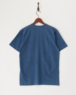 VINTAGE WASH  インディゴ刺繍デニムポケットTシャツ見る