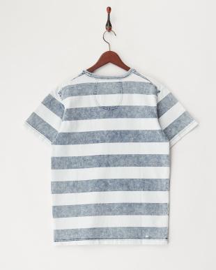 VINTAGE WASH  インディゴボーダーTシャツ見る