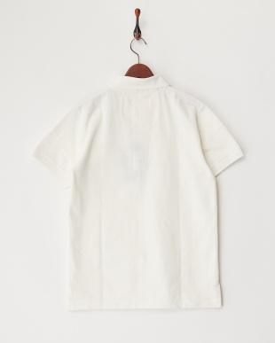 WHITE  ヘビー鹿の子ポケットポロシャツ見る