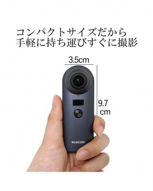 ブラック 4K対応360度カメラ見る