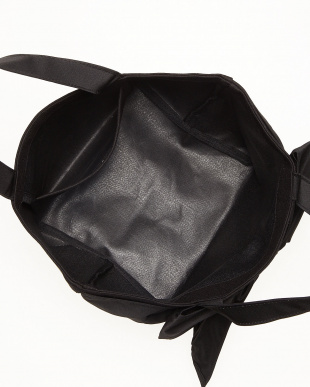 ブラック  ラップリボンミニトートバッグ見る