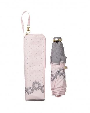 ピンク  RITZY DAISY 折傘3段折 雨晴兼用見る