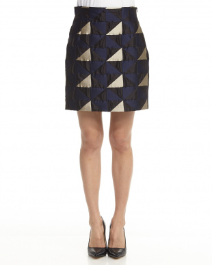 navy blue pattern Skirt CAPUA見る