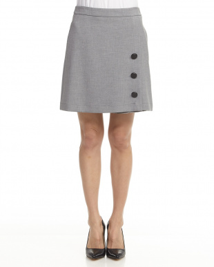 MEDIUM GREY  SKIRT CANGURO見る