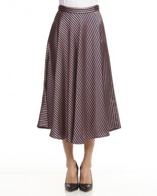 NAVY BLUE PATTERN SKIRT CANTO見る