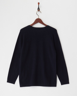 MIDNIGHT BLUE  SWEATER COMPASSO カシミヤVネック見る