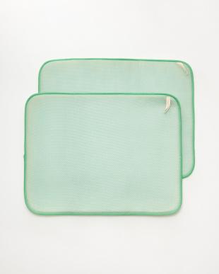 グリーン 食器用水切り(ドライングマット)M 2枚組 モリノキ見る