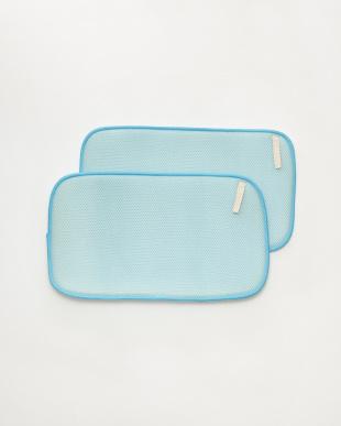ブルー 食器用水切り(ドライングマット)S 2枚組 オヤサイ見る