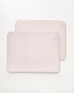 ピンク 食器用水切り(ドライングマット)M 2枚組 コダチ見る