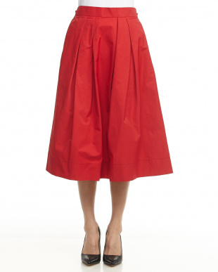 RED  ウエストゴムタックフレアスカート見る