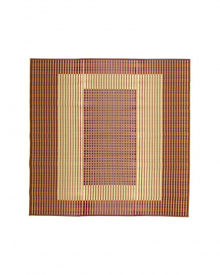 ブラウン  築彩 国産い草ラグ 261×261cm見る