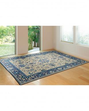 ブルー いざよい 国産い草ラグ 261×352cm見る