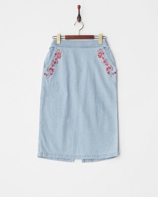 ブリーチ  刺繍デニムスカート見る