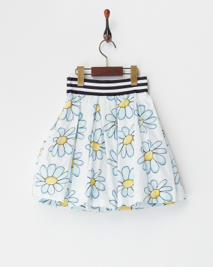 シロ×ブルー  フラワープリントスカート(4Y~)見る